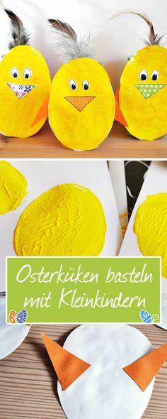 Ganz einfache Osterküken mit den Kleinsten basteln
