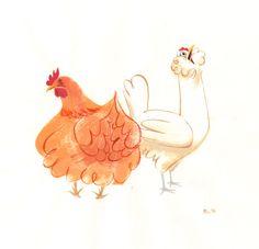 Chickens, hens, farm