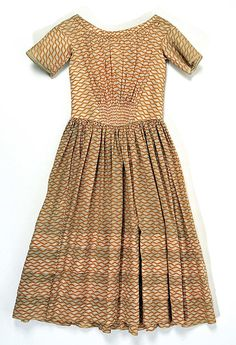 Cotton, American, ca. 1840. The Met, accession nr. C.I.39.98.1