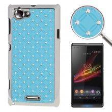 Carcasa Xperia L - Diamantes Azul Claro  $ 131.72