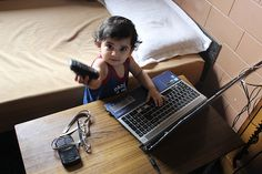 The Laptop is Childs Play Says Nerjis Asif Shakir 1 Year Old
