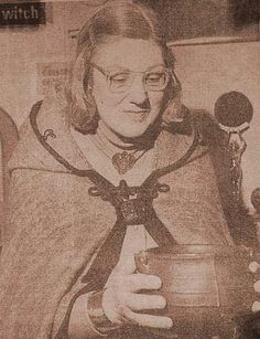 """Doreen Valiente~Doreen Valiente was a member (and later High Priestess) of an early Wicca coven, led by Gerald Gardner. She was one of the most respected and influential English witches in the modern-day witchcraft movement, and is sometimes referred to as the """"Mother of Modern Witchcraft"""""""