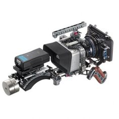 TiLTA ES-T07-C Silver Edition Offset Shoulder Rig For BMCC/BMPC Blackmagic Cinema Camera with Vintage Wooden Side Handgrips. In direct competition with MovCam's