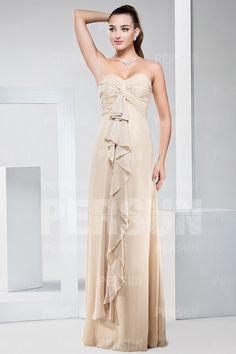 New Ruffles Ruched Sweetheart Chiffon Long A line Bridesmaid Dress