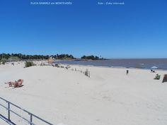 PLAYA RAMIREZ em Montevidéu, Uruguai.  A cidade fica às margens do Rio da Prata. Em alguns trechos há praias. A água  não é muito clara, não sei da temperatura. Mas são bem frequentadas  para banhos de sol, caminhadas, crianças brincarem, enfim são espaços de lazer em área urbana. Saindo do Parque Rodó basta atravessar a Rambla e se chega à praia. Foto : Cida Werneck