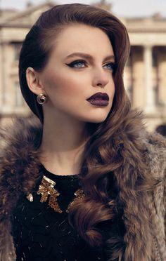 Dark lips 408912841140103812 - Timeless Makeup Trends – Fashion Diva Design Source by Eledhwenslair Kiss Makeup, Beauty Makeup, Hair Makeup, Hair Beauty, Eye Makeup, Fashion Diva Design, Winter Makeup, Dark Lips, Glamour