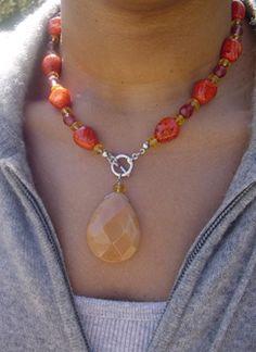 collar de piedras semi-preciosas