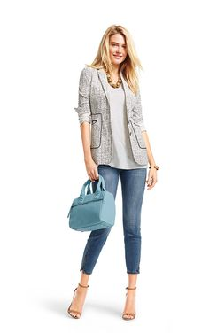 Love mixing seasons with CAbi! Cover Up Tee (spring '15 ...