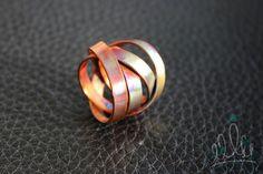 ANEL FITAS EM COBRE  | ANILLO FITAS DE COBRE #175 anel de cobre colorido através…