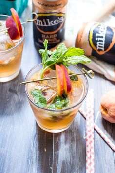 Bourbon Peach Lemonade Smash from The Girl In The Little Red Kitchen ...
