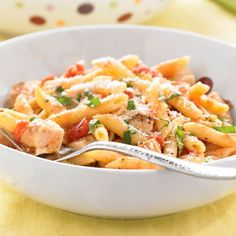 Grilled+Chicken+Penne+al+Fresco+-+The+Pampered+Chef® Deep Covered Baker Recipe. The Pampered Chef, Pampered Chef Recipes, Cooking Recipes, Healthy Recipes, Baker Recipes, Rockcrok Recipes, Grilled Recipes, Cooking Pasta, Chicken Broth Can