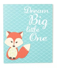 Look at this #zulilyfind! 'Dream Big, Little One' Wall Art #zulilyfinds