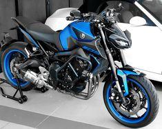 Satin Blue is the new black. Yamaha Fz 09, Yamaha Motorcycles, Cars And Motorcycles, Harley Davison, Super Bikes, Future Car, Cool Bikes, Toys For Boys, Big Boys