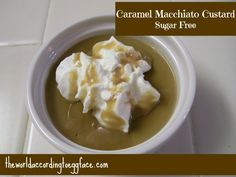 Eggface Sugar Free Desserts: Caramel Macchiato Custard - Coffee Lovers, Weight Loss Surgery Friendly