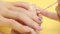 Create this rose gold nail design.