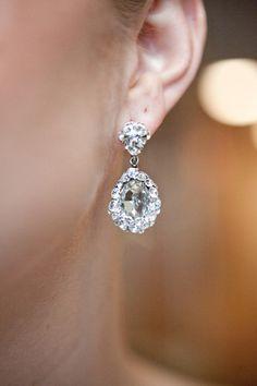Diana Earrings $30 http://www.happilyeverborrowed.com #wedding #earrings #bride