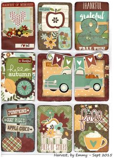 Harvest Pocket Letter by Emmy (prettylittlethings.eklablog.com)