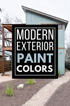 Must see modern exterior paint color combinations that work so well together! Paint your home's exterior with confidence after being inspired by these great modern color schemes. Best House Colors Exterior, Exterior Paint Color Combinations, Best Exterior Paint, Modern Color Schemes, Exterior Paint Colors, Modern Exterior, Colorful Interior Design, Good House, Better Together