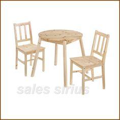 Tisch Ess Gruppe Ecke 2 Stühle Küche Zimmer 3-Teilig Set Holz Frühstücks Essen…