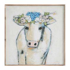Found it at Joss & Main - Calia 'Cow & Flowers' Art Print