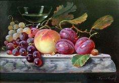 Still life of fruit By Raymond Campbell