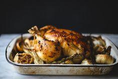 Garlic Cayenne Confit Roasted Chicken