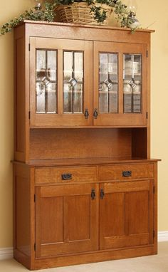Country Hutch by Terry's Fine Woodworking...this would be an awesome wine bar for a small space!!