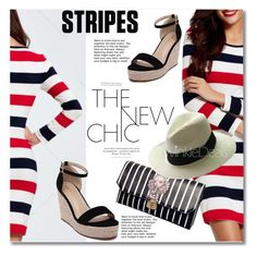 """""""Stripes"""" by svijetlana ❤ liked on Polyvore featuring polyvoreeditorial, twinkledeals and stripesdress"""