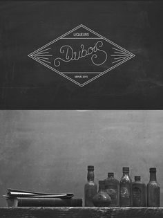 Dubois Liquor, by Thymoos Beer Logo Design, Brand Identity Design, Branding Design, Typography Layout, Vintage Typography, Graphic Design Typography, Homemade Liquor, Love Design, Ux Design