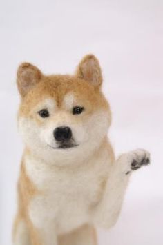 needle felted Shiba Inu or Akita Needle Felted Animals, Felt Animals, Shiba Inu, Akita, Wet Felting, Needle Felting, Felt Dogs, Felt Hearts, New Hobbies