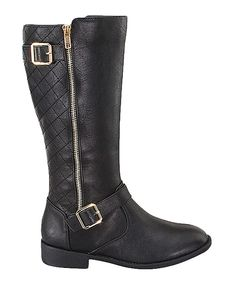 Look what I found on #zulily! Black Elvina Boot by  #zulilyfinds