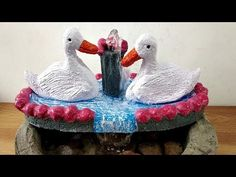 How to make amazing cement waterfall fountain water fountain M Craft, Craft Work, Asian Paints, Waterfall Fountain, Enamel Paint, Cement, Bird, Make It Yourself, Amazing