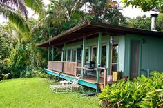 Hana Vacation Rental - VRBO 202306 - 0 BR East Maui Cottage in HI, Paradise: Ocean View Cottage Solar Power Tropical Flower Farm
