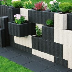 beton pflanzsteine setzen