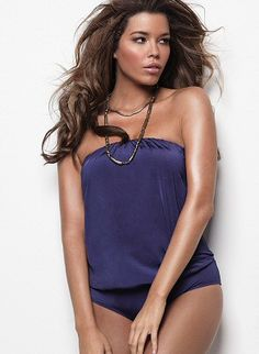Flattering blouson-style one-piece #swimsuit by #MAIOSwim by #MonicaWise #LSpaceSwim, $132.00