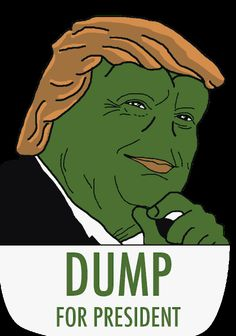 Dump for President future rare pepe pin via...