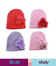 cece241afe6 ... coupon code for 1.99 cute floral toddlerborn baby girls warm knitted beanie  hat kids beads cap