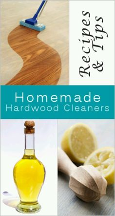 Homemade Hardwood Floor Cleaner Recipes & Tips -- also scratch repair tip! Household Cleaning Tips, Homemade Cleaning Products, Cleaning Recipes, Natural Cleaning Products, Cleaning Hacks, Household Cleaners, Cleaning Solutions, Household Products, Cleaning Supplies