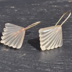 """Art Deco Fan Earrings 