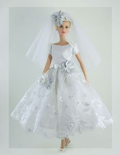 Wedding Dress 2 by Gwendolyns Treasures Barbie Bridal, Barbie Wedding Dress, Wedding Doll, Barbie Gowns, Barbie Dress, Barbie Clothes, Wedding Dresses, Barbie E Ken, Vintage Barbie Dolls