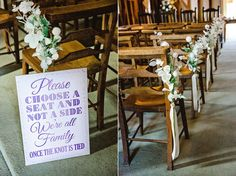 Reid Rooms Wedding Ceremony Room, decor and signage by Anesta Broad Photography