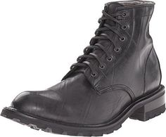 3486176-BLK Frye Mens Arkansas Rubber Lace Up Black Recycled Rubber/Shearling #FRYE #Causal