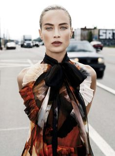 Carolyn Murphy by Max Vadukul for Elle US September 2014