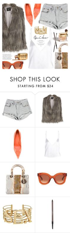 """""""Untitled #1711"""" by noviii ❤ liked on Polyvore featuring Dorothy Perkins, Versace, Christian Dior, CÉLINE, Dolce&Gabbana, Laura Geller and Urban Decay"""