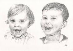 Pencil Portraits (Double Portrait on A3) with Christmas discount  #Pencil #Prints #Portraits #Pet #Family #Portrait #Friends #Ink #Hand #TaylorBeales>>