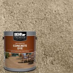 The BEHR Premium Concrete Dye Tint-Base is a unique decorative finish that adds depth and warmth to your home by transforming ordinary concrete into an elegantly beautiful and luxurious floor resembling Concrete Dye, Concrete Bricks, Stained Concrete, Concrete Floors, Painting Concrete, Cement, Concrete Porch, Plywood Floors, Concrete Lamp