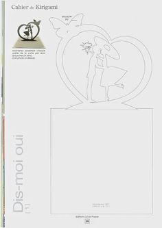 Lovers pop up Kirigami Templates, Pop Up Card Templates, Origami And Kirigami, Heart Pop Up Card, Pop Up Karten, Tarjetas Pop Up, Wedding Cards Handmade, Paper Artwork, Card Patterns