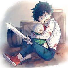 Todoroki Shouto x Izuku Midoriya Boku No Hero Academia Todoroki, My Hero Academia Memes, My Hero Academia Manga, Manga Anime, Anime Art, Deku Anime, Anime Child, Manga Games, Cute Gay