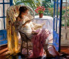 Vicente Romero Redondo Paintings   Женские образы в картинах художника ...
