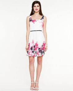 Floral Print Fit & Flare Dress - I love this somewhat retro-inspired style of dress :3